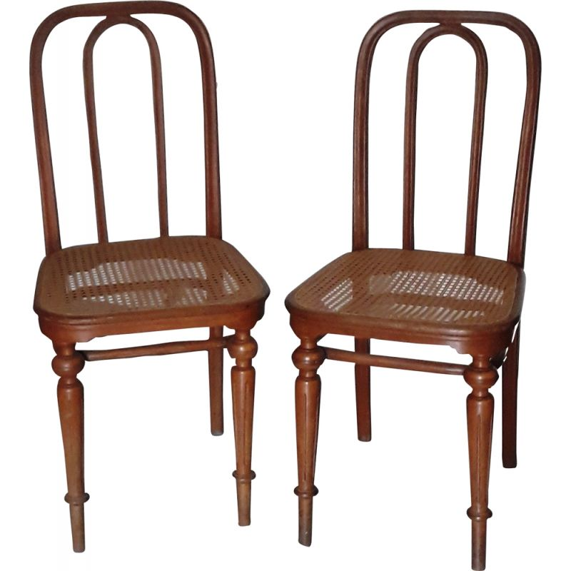 Vintage model 41 chair by Michael Thonet in wood 1930s