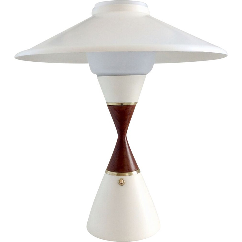 Vintage danish table lamp in teak 1950s
