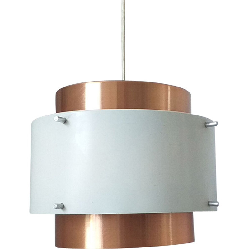 Mid Century pendant light in brass, Denmark, 1970s