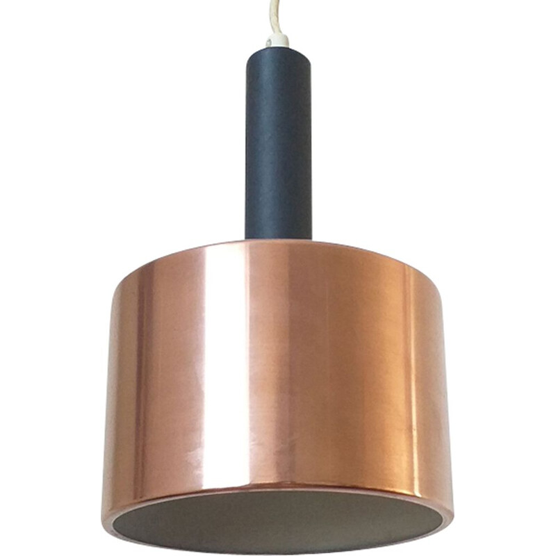Vintage pendant light with brass, Denmark, 1970s