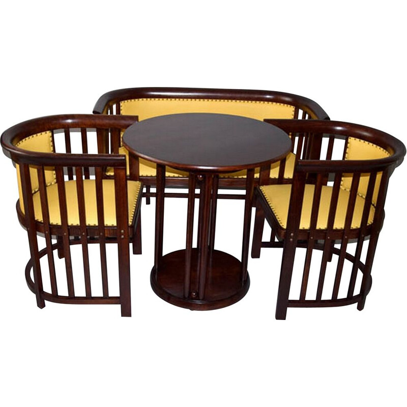 Vintage living room set by Josef Hoffmann for JJ Kohn, 1910s