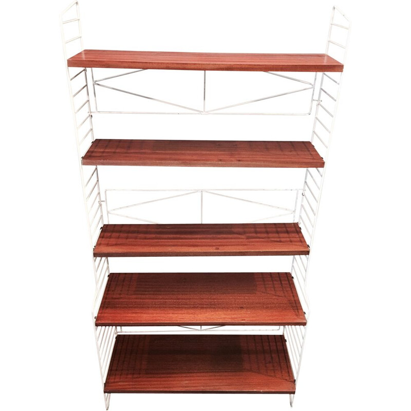Vintage modular teak shelf by BFB-HYLLAN, Sweden 1950