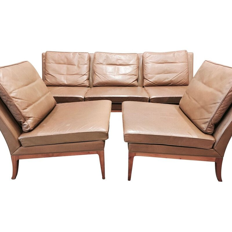 Vintage leather lounge set by Kill International