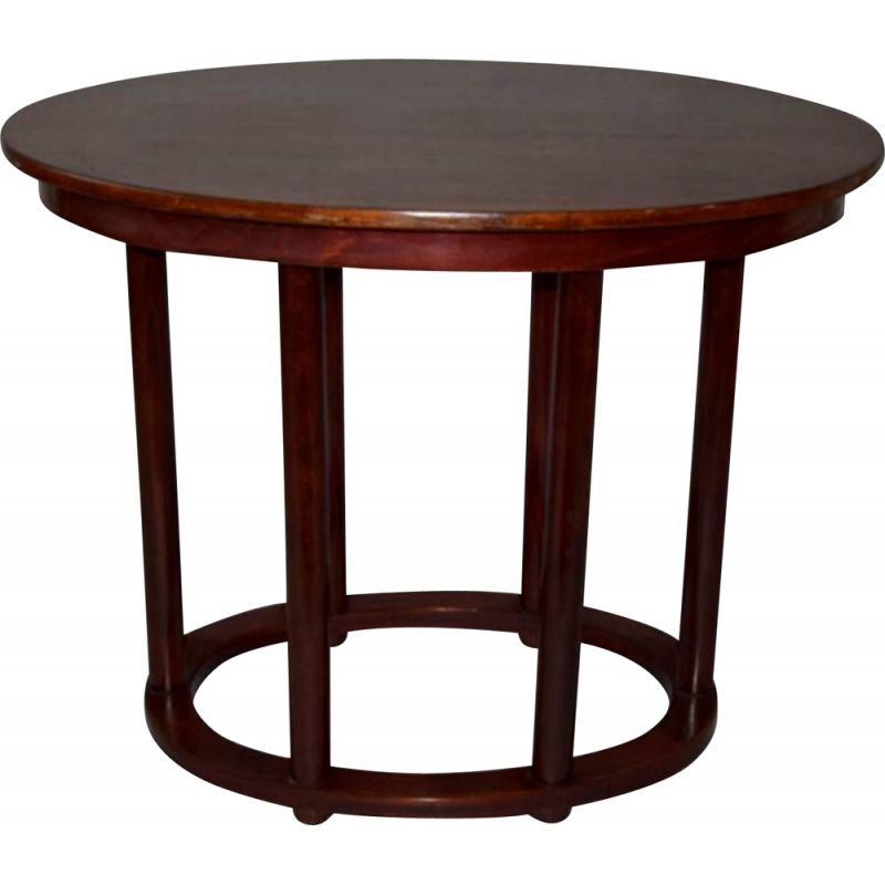 Oval side table by Josef Hoffmann for Thonet