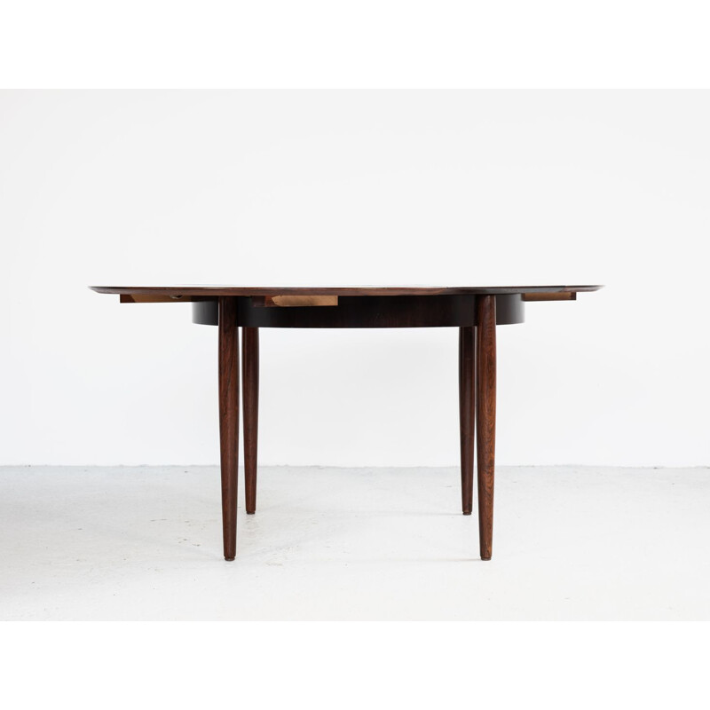 Vintage round table in rosewood by Lübke, Germany 1960s