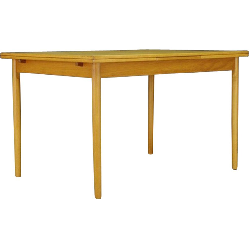 Vintage ashwood table Danish design, 1960-1970s