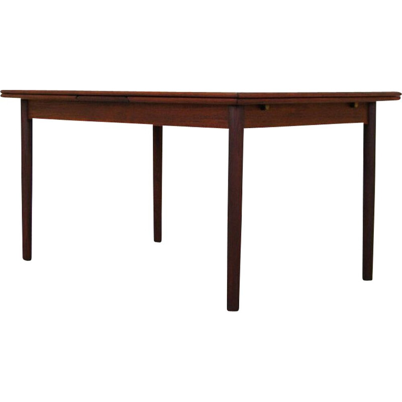 Scandinavian extendable table in teak