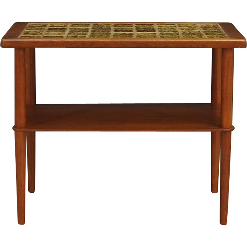 Vintage teak and ceramic coffee table, Denmark, 1960-70s