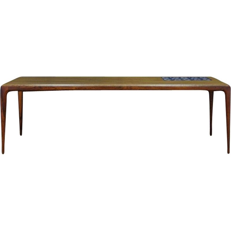 Vintage coffee table in rosewood by Johannes Andersen, Denmark,1960-70s