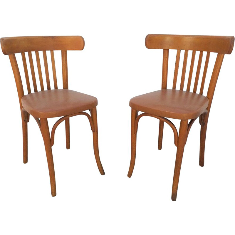 Pair of vintage bistro chairs by Thonet