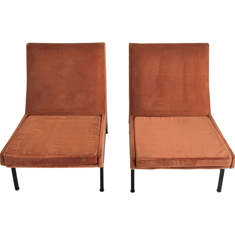 Suite of two vintage 642 ARP low chairs for Steiner, 1955