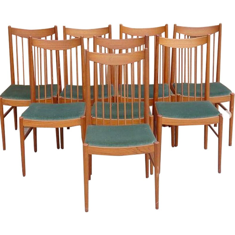 Set of 8 vintage chairs model 422 by Arne Vodder, 1960s