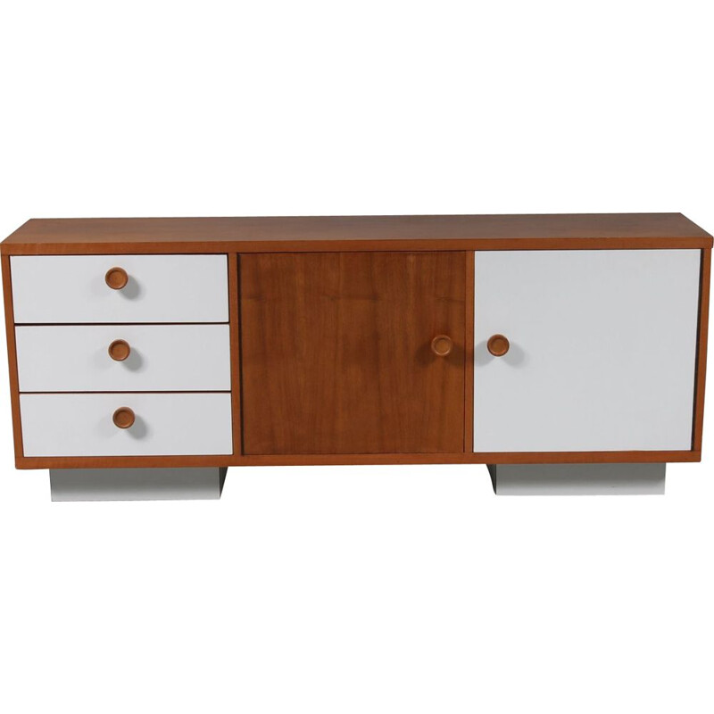 Vintage sideboard in teak manufactured in the Netherlands, 1960s