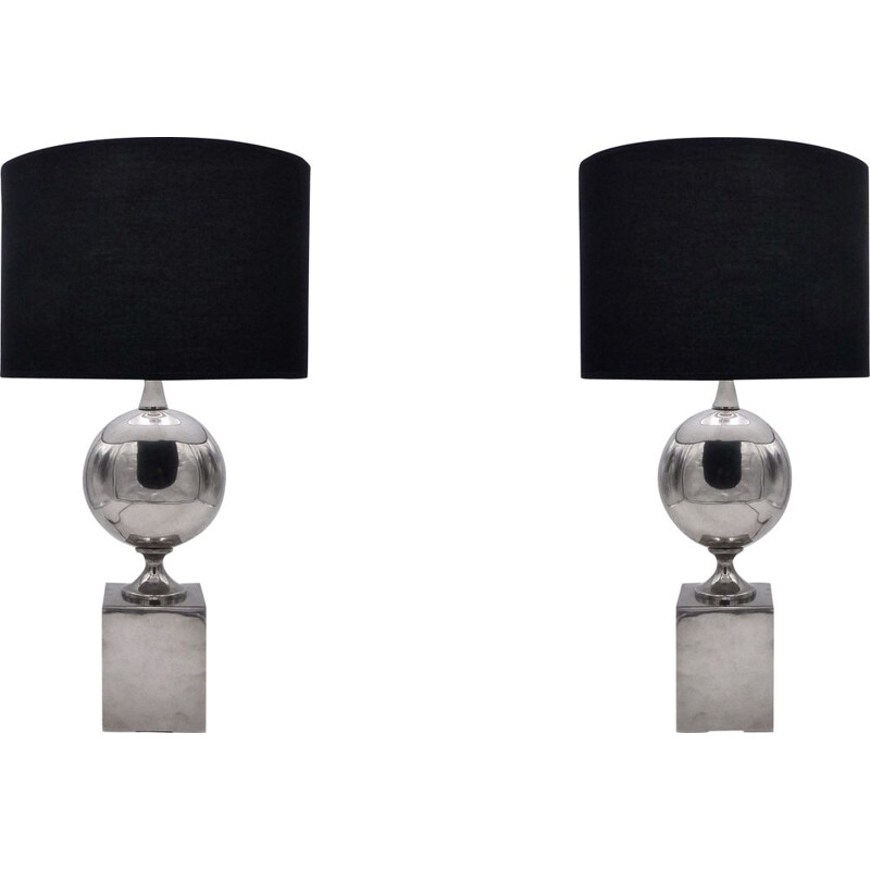 Pair of vintage table lamps by Barbier, France 1970