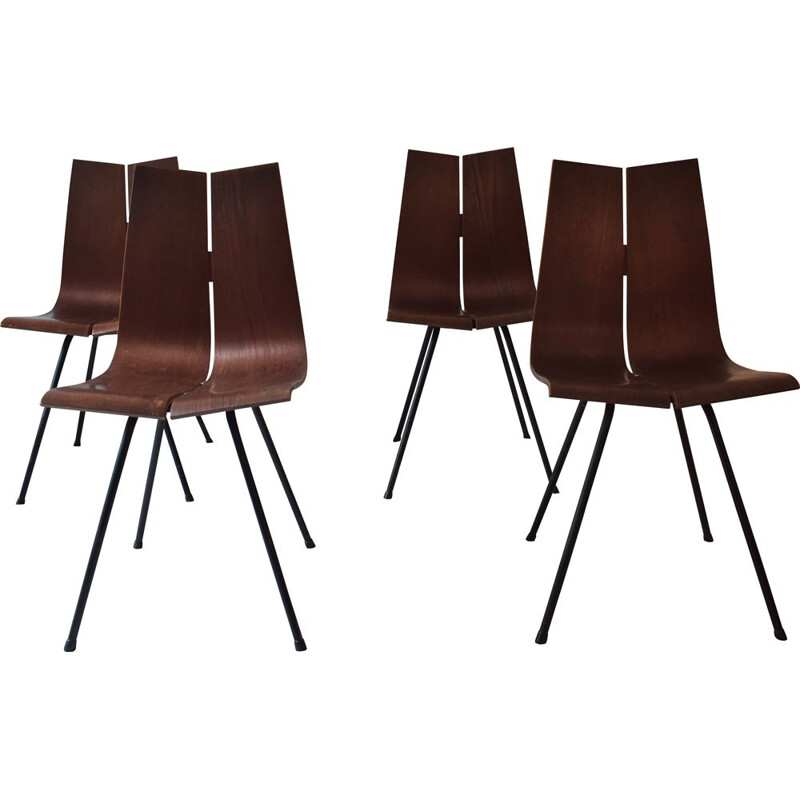 Set of 4 vintage GA chairs by Hans Bellmann for Horgen Glarus, 1950s