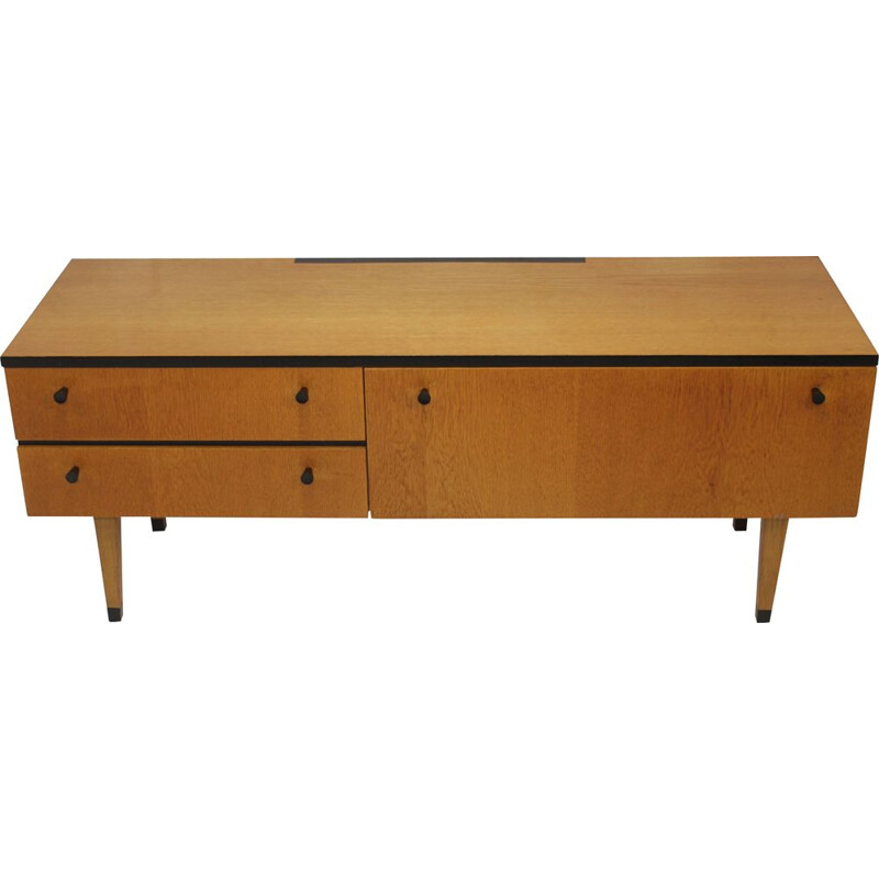 Vintage sideboard in varnished wood, 1950s