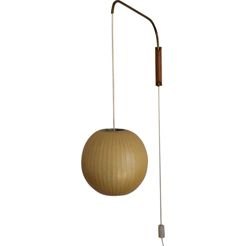 """Bubble"" vintage counterbalanced wall light, by George Nelson, 1950"