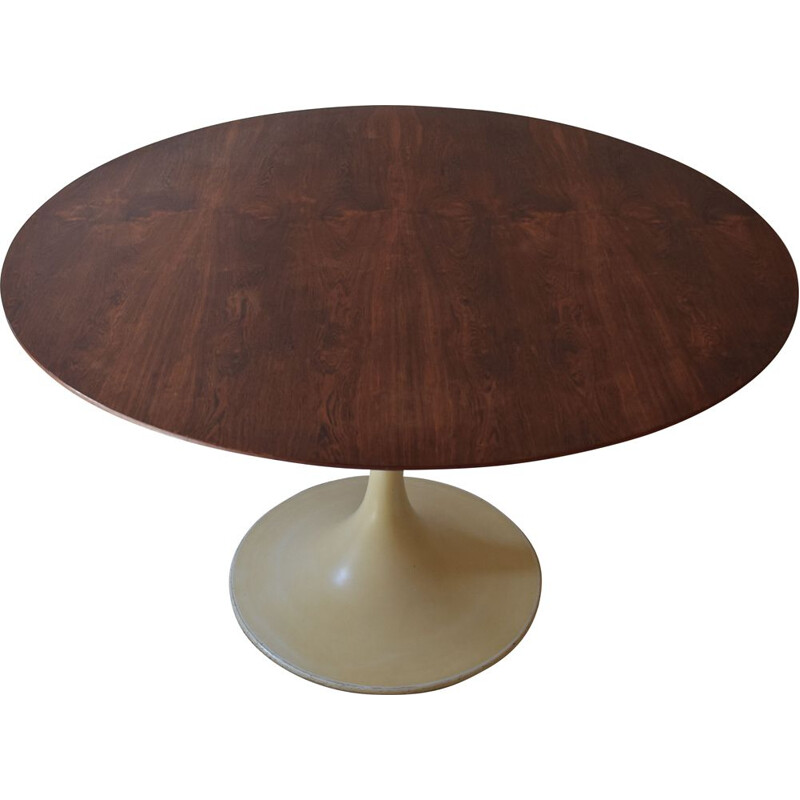 Vintage rosewood table with tulip foot, 1960s