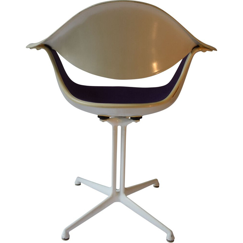 "Vintage purple armchair ""Daf"" by George Nelson for Herman Miller, 1960s"