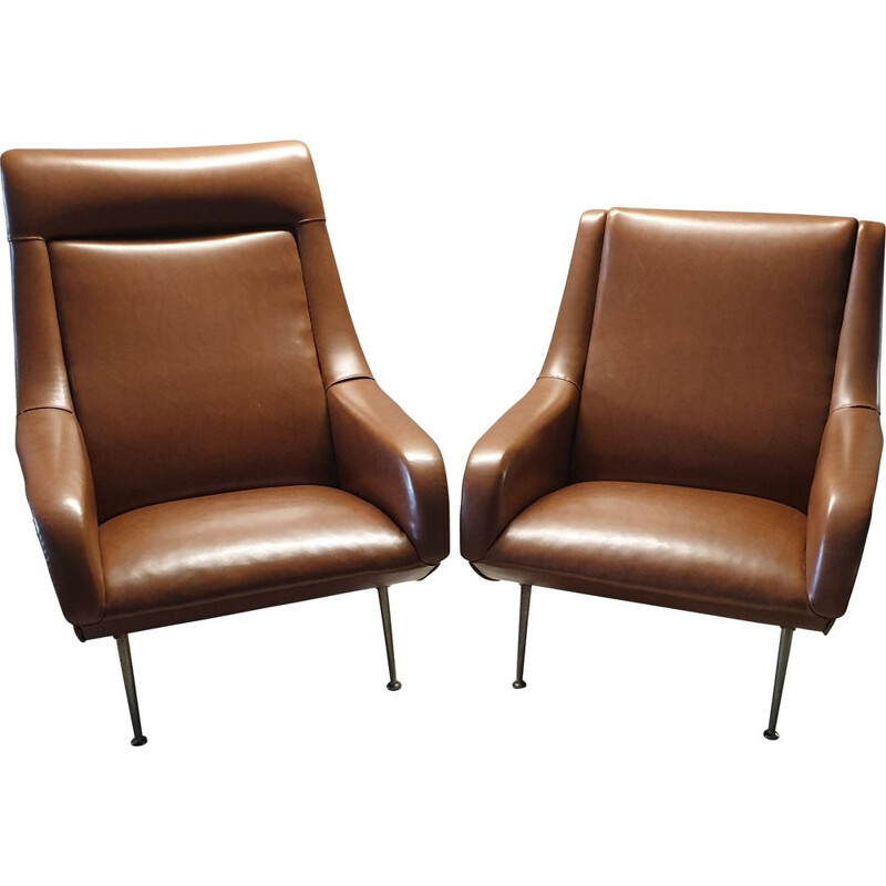 Set of 2 vintage armchairs by Bengt Ruda for Artifort, 1960s