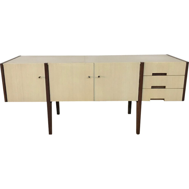 Vintage sideboard, scandinavian design in formica and teak, 1950s 1960s
