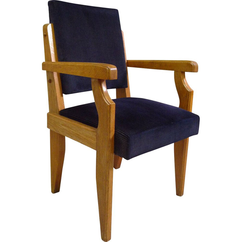Vintage armchair by Guillerme and Chambron for Votre Maison 1945-1950