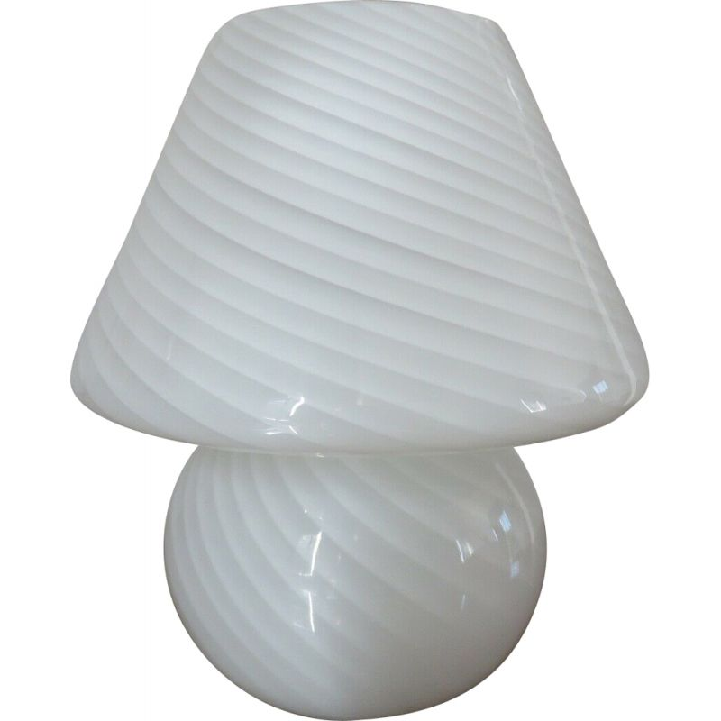Vintage mushroom lamp in murano glass 1970s