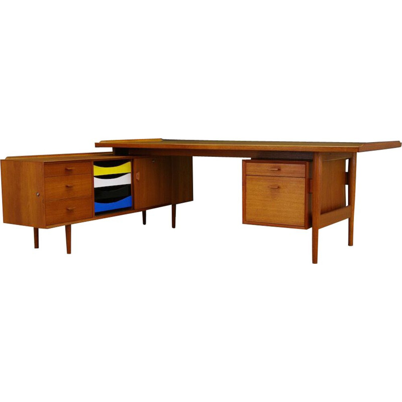 Vintage Desk in teak by Arne Vodder for Sibast, 1960s