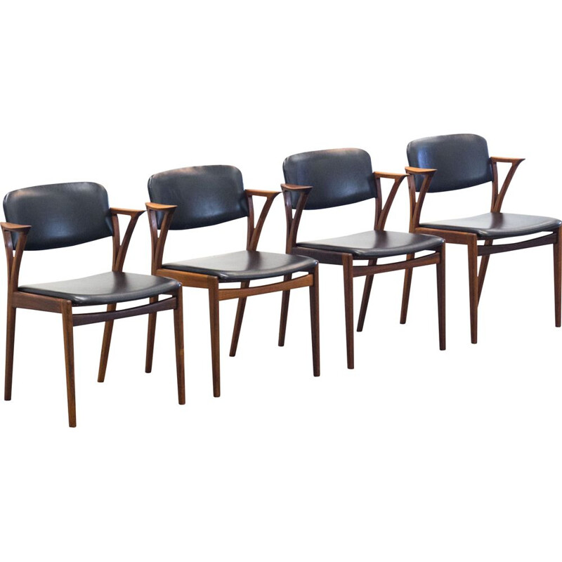 Set of 4 vintage Bovenkamp dining chairs by Kai Kristiansen