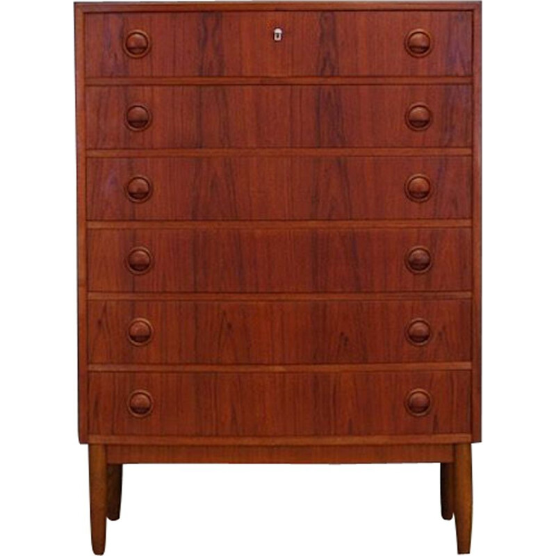 Vintage teak chest of drawers by Kai Kristiansen, 1960s-1970s