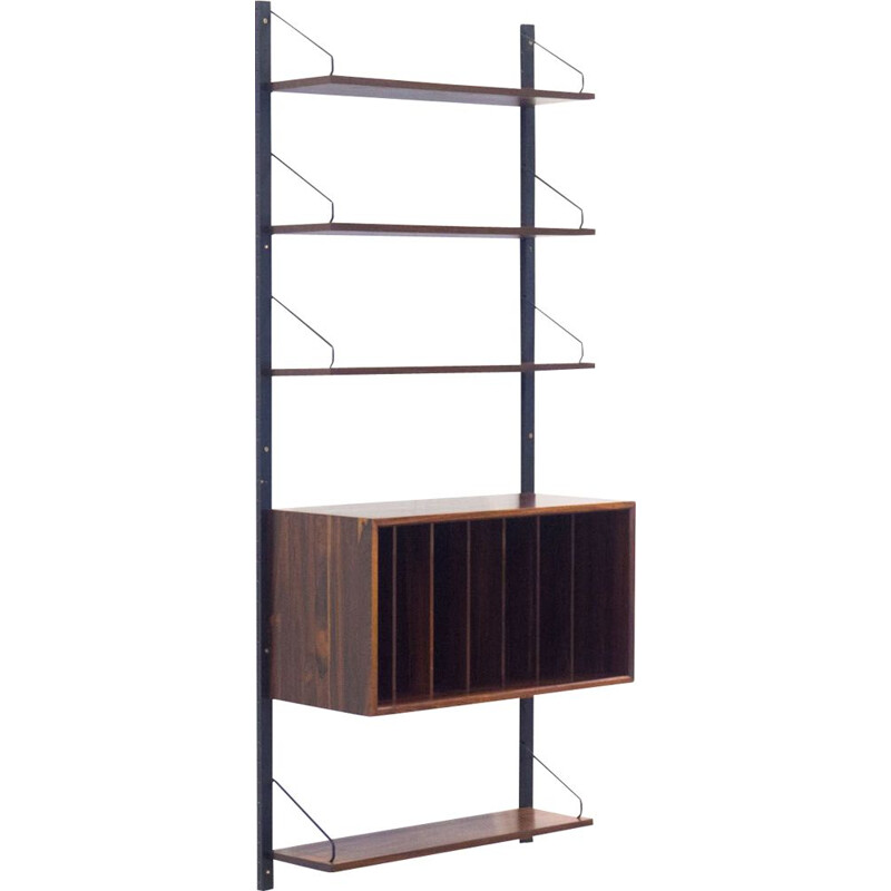 Vintage rosewood  wall unit by Poul Cadovius