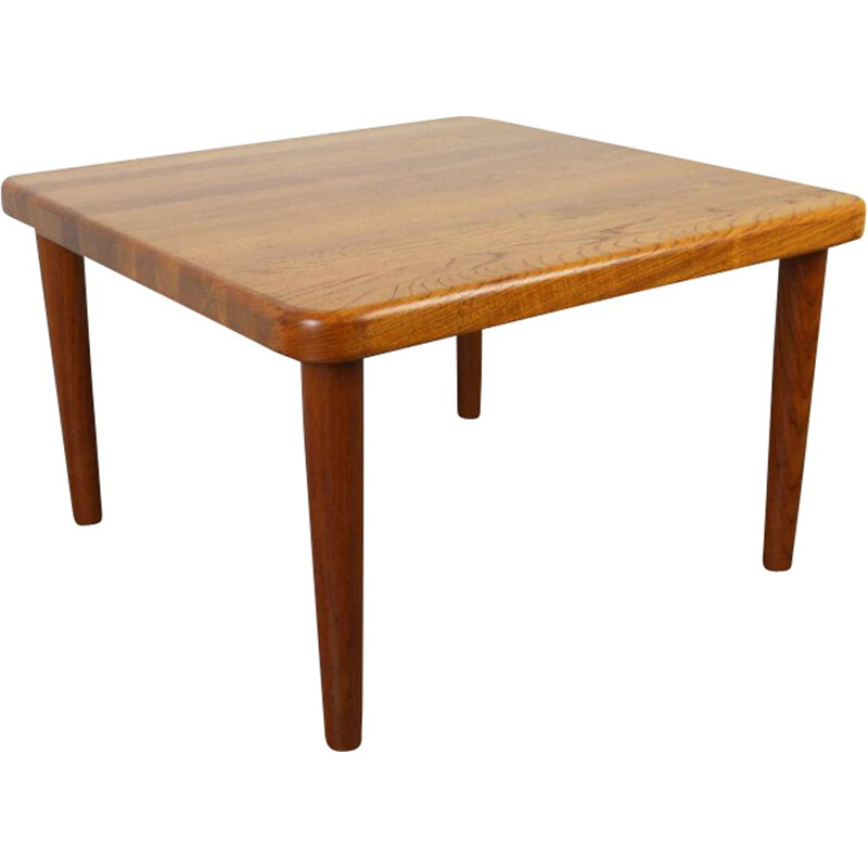 Vintage square teak coffee Table from Glostrup, Denmark, 1960s