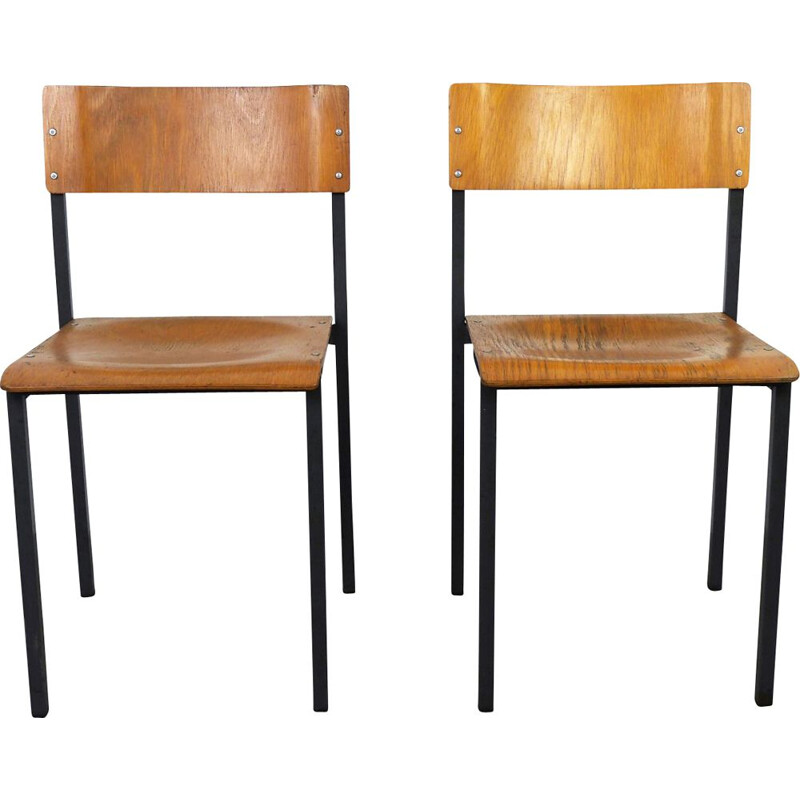 Pair of  vintage workshop chairs, Germany, 1960s