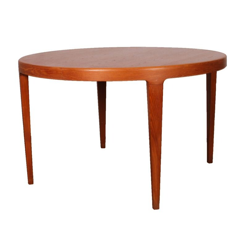 Round vintage dining table, Scandinavian design, 1960