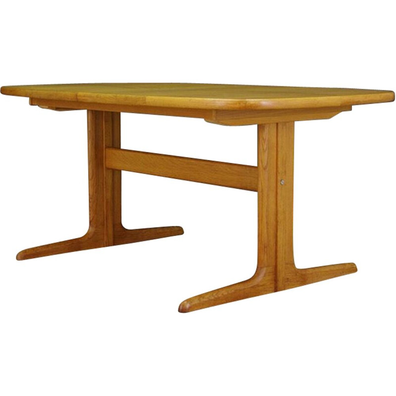Vintage Scandinavian dining table in ash