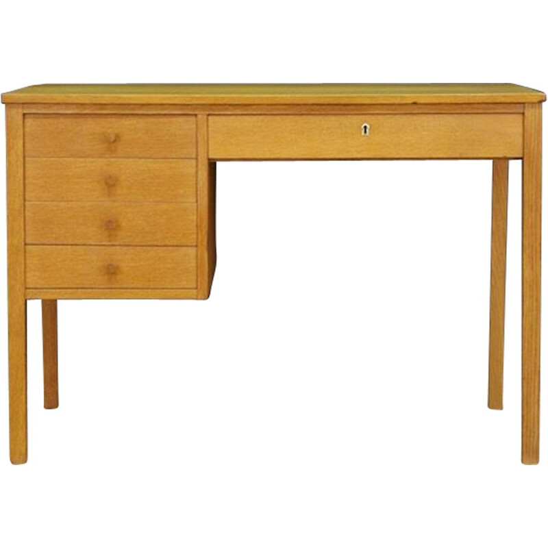 Vintage Scandinavian writing desk in ash