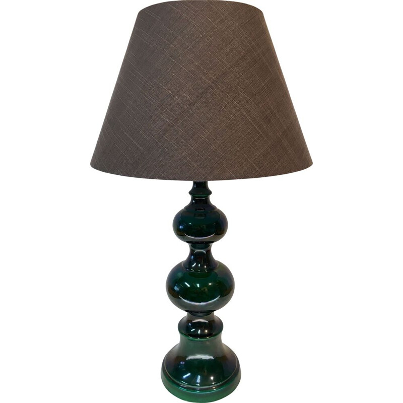Vintage green ceramic table lamp