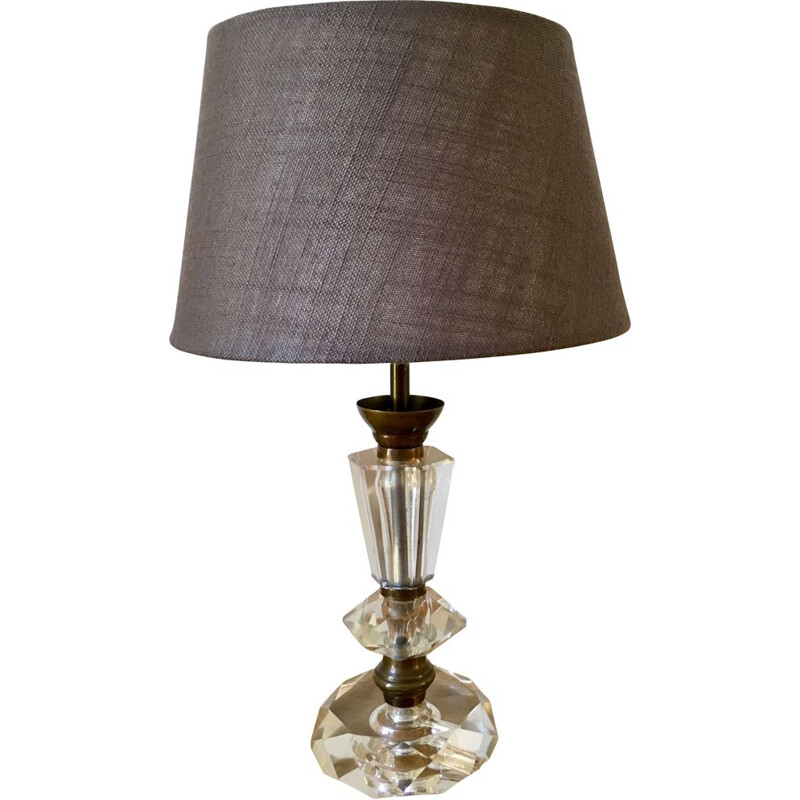 Vintage table lamp in cut crystal