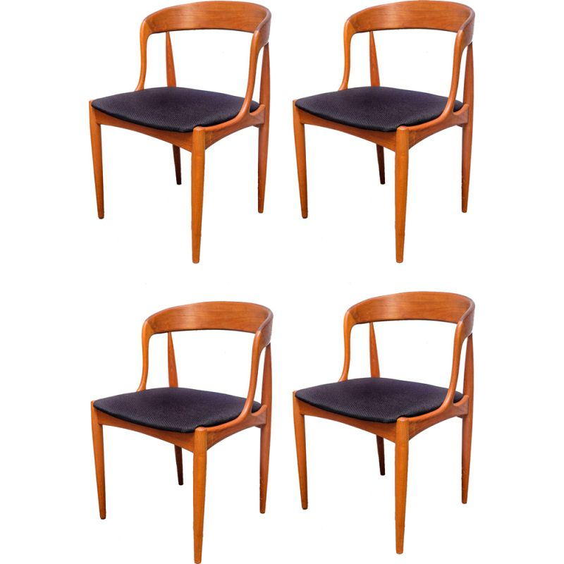Set of 4 vintage teak chairs by Johannes Andersen for Uldum