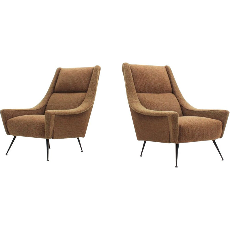 Vintage pair of Italian armchairs by Minotti, 1950s