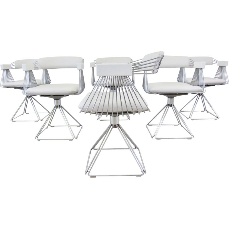 Set of 6 vintage dining chairs, Novalux, 1970s