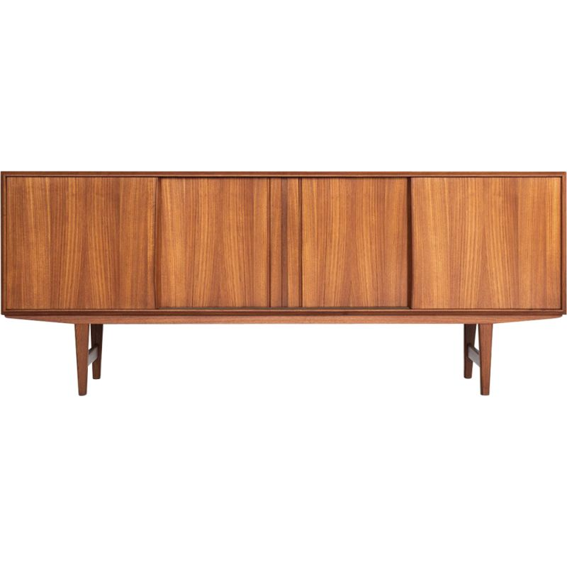 Danish vintage sideboard in teak by EW Bach for Sejling Skabe, 1960s