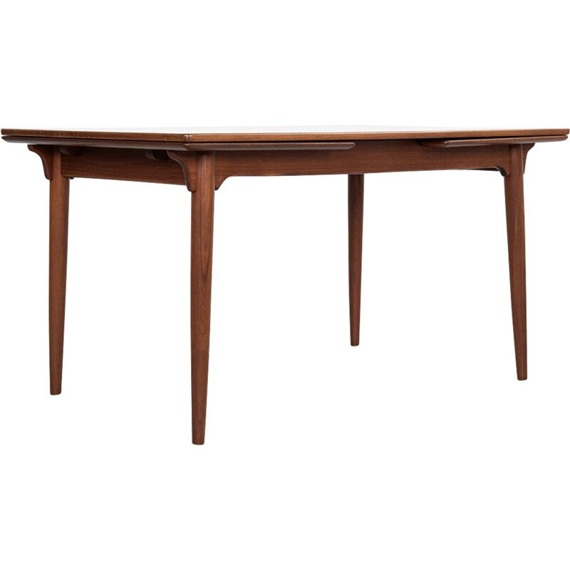 Extendible vintage table in teak by Omann Jun, 1960s