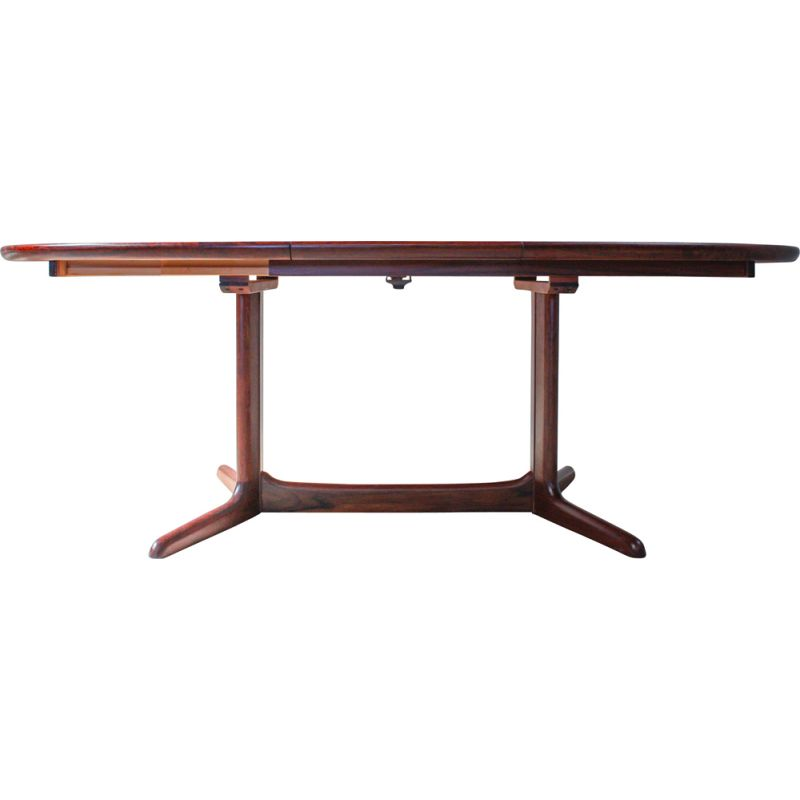 Oval unfoldable vintage dining table in rosewood, Denmark, 1960s