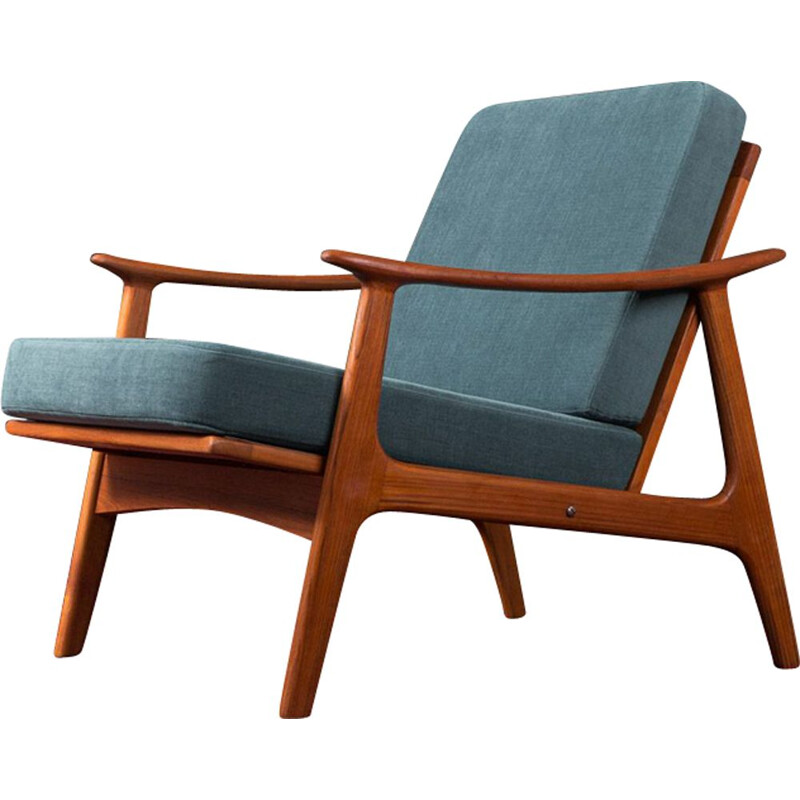Vintage teak wood armchair by France & Son, Denmark, 1950s