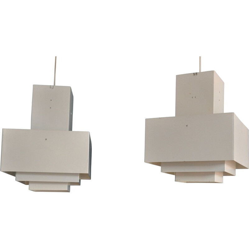 Pair of vintage C896 pendant lights by Hans-Agne Jakobsson