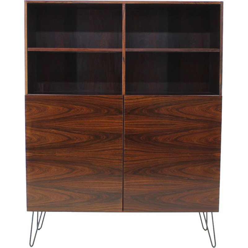 Vintage bookcase in rosewood by Ib Kofod-Larsen, 1960s