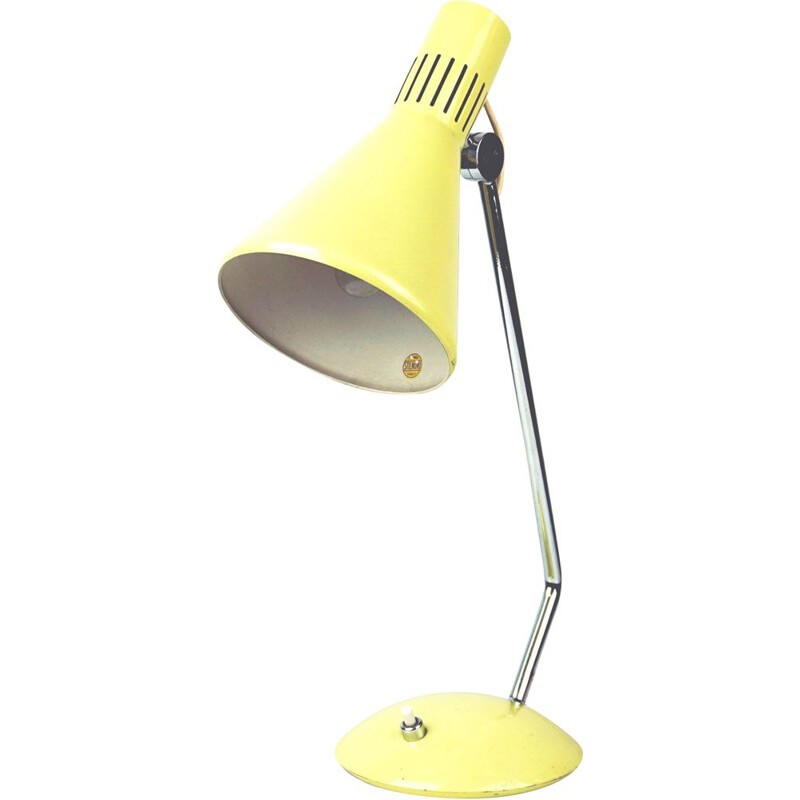 Vintage yellow Italian table Lamp by Stilnovo