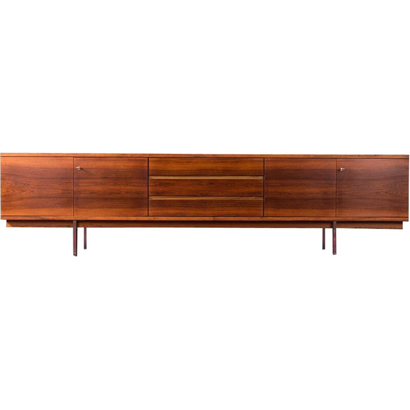 Long Vintage sideboard in rosewood, 1960s
