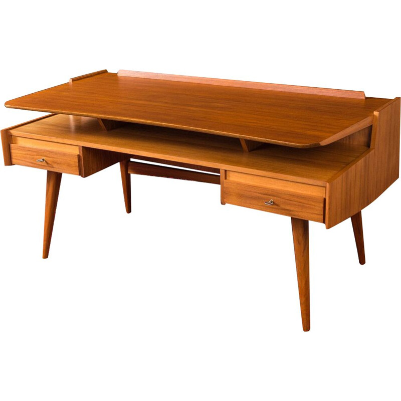 Walnut vintage desk by WK Möbel, 1950s